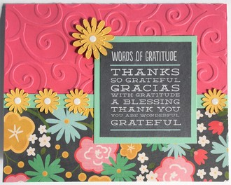 Words of Gratitude Card