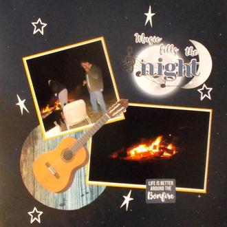 Music fills the Night