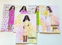 Sassy Stencil Girls Art Cards