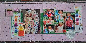 October Double Page Challenge