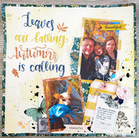 Autumn Layout using November Cherry Box