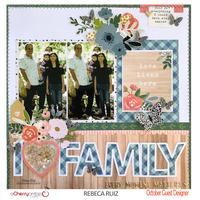 I Heart Family Layout