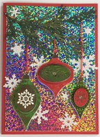 Holographic Christmas Card and Tag
