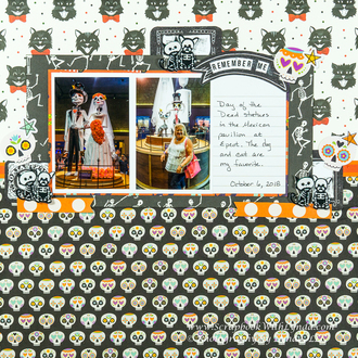 Day of the Dead Scrapbook Layout - Disney Epcot