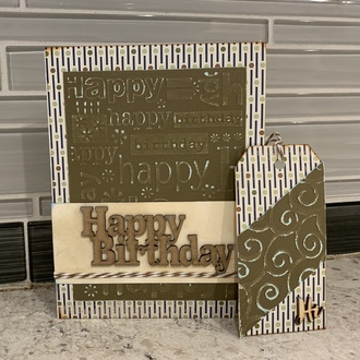 Birthday card and matching tag