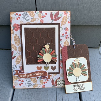 Thanksgiving card and tag