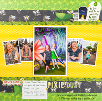 Tinker Bell at Disney World Scrapbook Layout