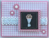 Pink Plaid Bouquet Card