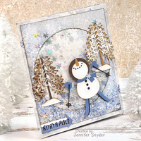 Jolly Snowman Shaker card