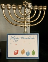 Happy Hanukah card and tag