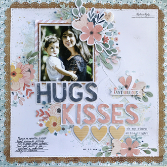 Hugs & Kisses Layout