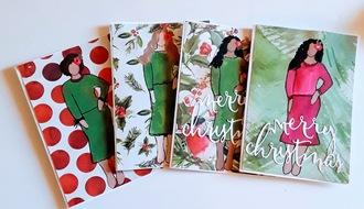 Christmas Cards- Sassy Girls Art