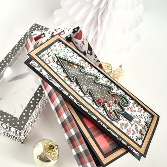 Lumberjack Christmas Z Fold Spinner Shaker Cards