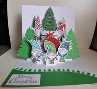 Gnomes Pop Up Card