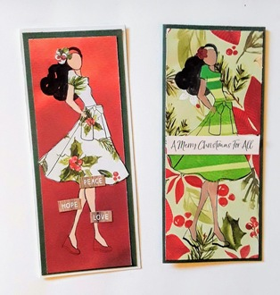 Julie Nutting Doll Stamp Christmas Cards