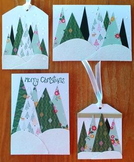 2020 Christmas card 7 & 8 and 2 tags