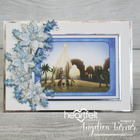 Blue and Silver Christmas Card