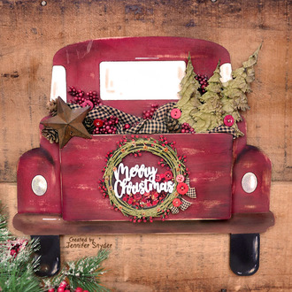 Pickup Truck Christmas  Wall Decor with shaker