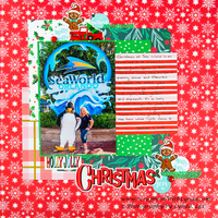 Christmas Layout with Puck from Sea World