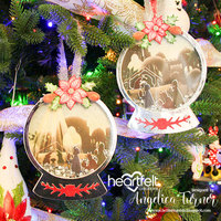 Christmas Snowglobe Shaker Ornament Tag