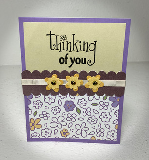 A Scrappy Thinking of You Card