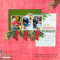 Little Christmas Scrapbook Layout