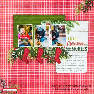 Little Christmas Scrapbook Layout