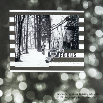 Monochromatic Black and White Scrapbook Layout