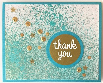 Turquoise Thank You Card