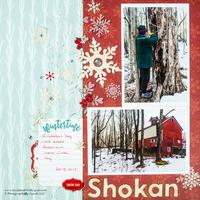Snowflake Winter Scrapbook Layout