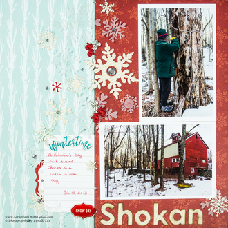 Snowflake Winter Scrapbook Layout