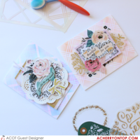 Stenciled Background Cards