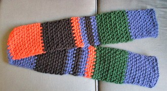 Crochet scarf for DH