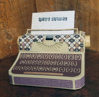 Typewriter Gift Box
