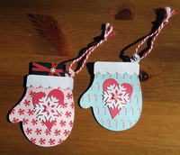 Mittens Gift Card Holders