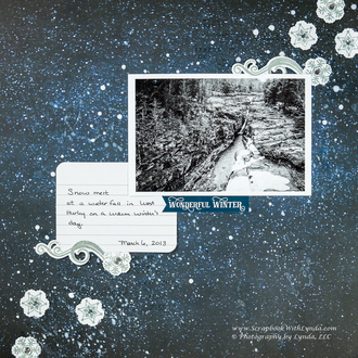 Mixed Media Snowflake Scrapbook Layout