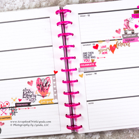 Valentine's Day Before the Pen Planner Spread