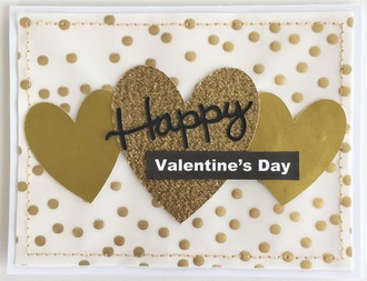 Gold Valentine's Day Card