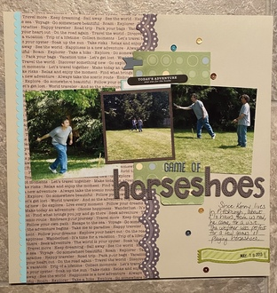 Game of Horseshoes - Becky Sketch 210