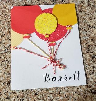 Barrett's Birthday Card