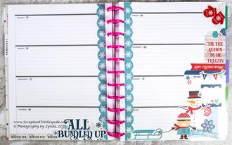 Winter Fun Planner Spread Using Scrapbook Stickers
