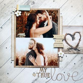My True Love FVDP scraplift challenge