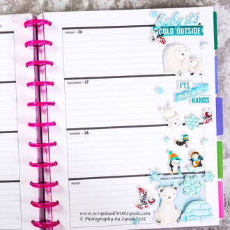It's Cold Outside Before the Pen Planner Spread