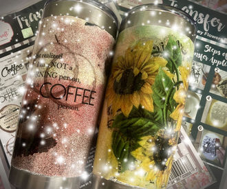 Sparkling Tumblers Using Transfer Me