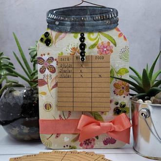 Flower Jar... Water tracker