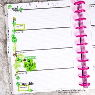 St Patrick's Day Before the Pen Planner Spread