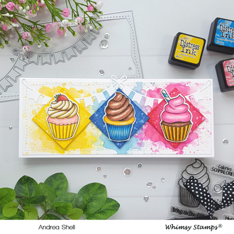 Slimline Cupcake Card