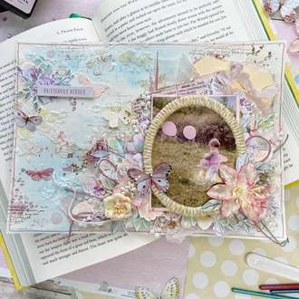 Mixed Media Spring Layout
