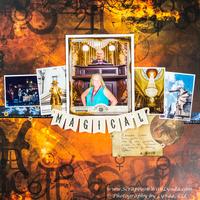 Gringotts Bank Scrapbook Layout, Wizarding World of Harry Potter, Universal Orla