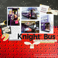 Knight Bus at the Wizarding World of Harry Potter Universal Studios
